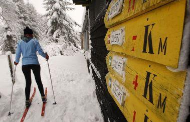 Pistes de ski de fond de Saint-Hubert-Ski de fond tot Provincie Luxemburg