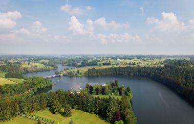 Meer en Stuwdam van Robertville-Sports d´eau tot Provincie Luik